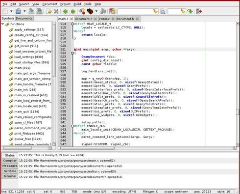 Geany (โปรแกรม Text Editor เขียนโปรแกรม อย่างมั่นใจ ฟรี) :