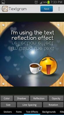 App เขียนข้อความ Textgram
