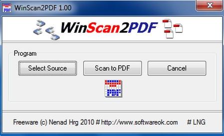 WinScan2PDF โปรแกรมแปลงเป็น PDF