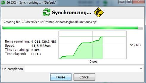 โปรแกรมซิงค์ข้อมูลไฟล์ FreeFileSync