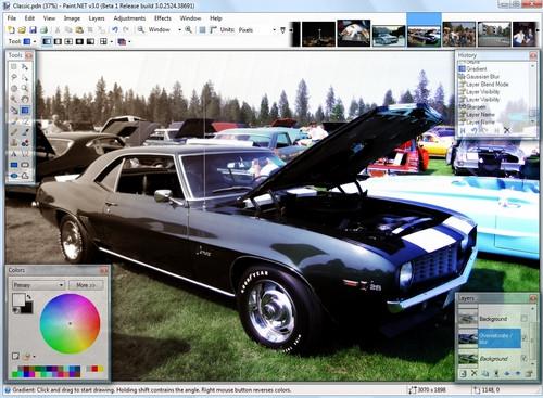 โปรแกรมแต่งรูป Paint.NET