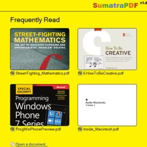 Sumatra PDF (โปรแกรมเปิดไฟล์ PDF โปรแกรมอ่านไฟล์ PDF ฟรี) :