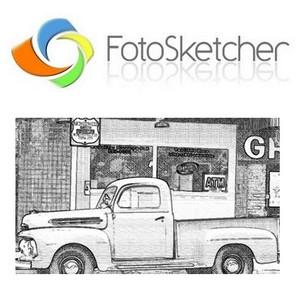 FotoSketcher (โปรแกรม FotoSketcher ทำภาพสเก็ต ภาพวาดแรเงา) :