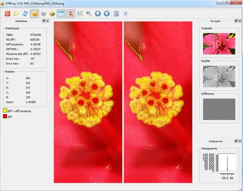 โปรแกรมเปรียบเทียบรูปภาพ DiffImg