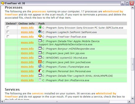 โปรแกรมแอนตี้ไวรัส FreeFixer