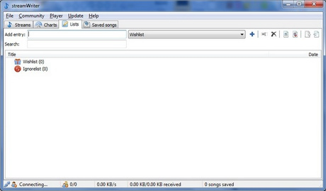 โปรแกรมอัดบันทึกเสียง streamWriter