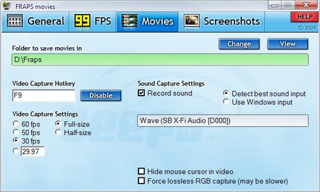 โปรแกรมอัดวีดีโอหน้าจอ พร้อมเสียง Fraps