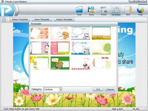 โปรแกรมออกแบบการ์ด Photo Card Maker