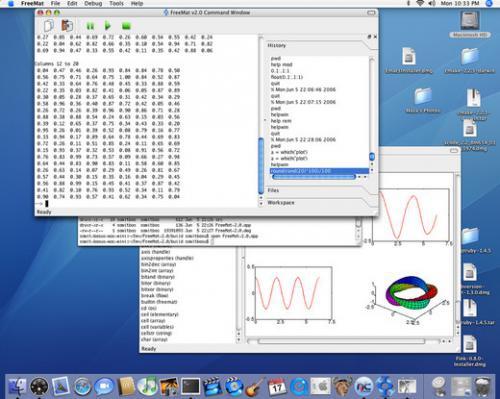 โปรแกรมคณิตศาสตร์ FreeMat บน Mac