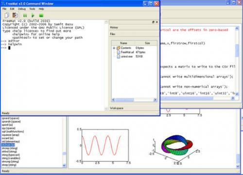 โปรแกรมคำนวณคณิตศาสตร์ FreeMat
