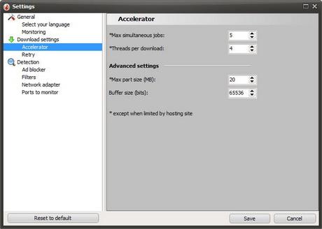 โปรแกรมโหลดคลิป VSO Downloader