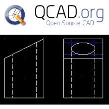QCad (โปรแกรมออกแบบ CAD แบบ 2 มิติ ฟรี) :