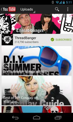แอปดู YouTube