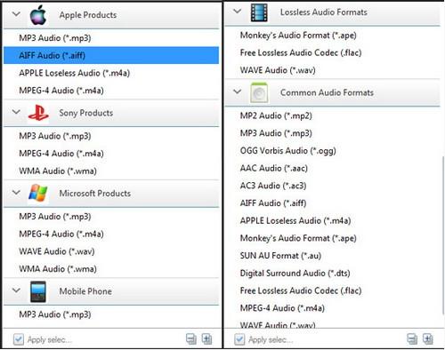 โปรแกรมแปลงไฟล์เสียง Any Audio Converter