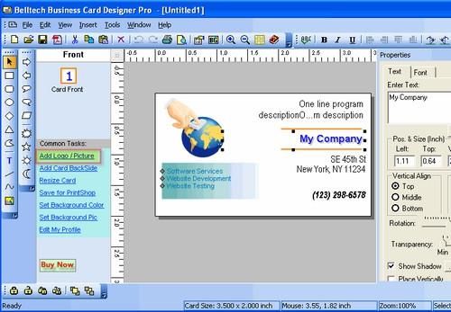 โปรแกรมทำนามบัตร Business Cards Designer
