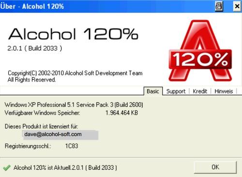 Alcohol 120 (โปรแกรมไรท์แผ่น จำลองไดร์ฟ CD DVD) :