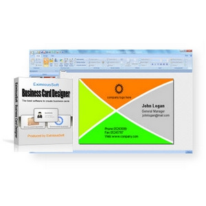 EximiousSoft Business Card Designer (โปรแกรมพิมพ์นามบัตร) :