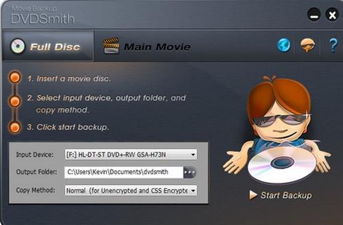 โปรแกรมคัดลอก Copy แผ่น DVDSmith Movie Backup