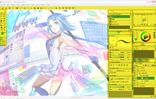 โปรแกรมวาดการ์ตูน openCanvas