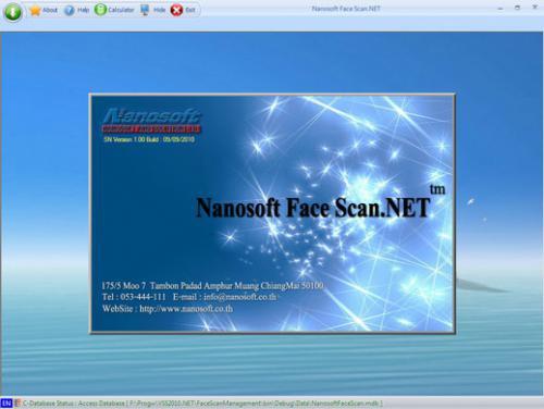 โปรแกรมสแกนใบหน้า Nanosoft Face Scan