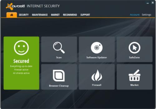 โปรแกรมป้องกันไวรัส Avast Internet Security