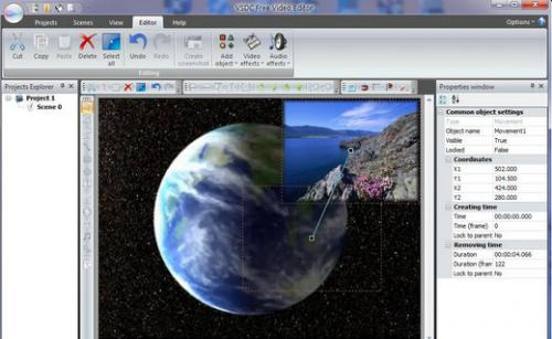 โปรแกรมตัดต่อวีดีโอVSDC Free Video Editor