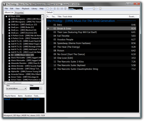 โปรแกรมฟังเพลง Foobar 2000