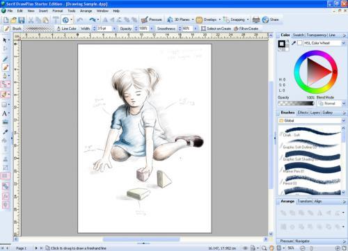 DrawPlus Starter Edition (โปรแกรม DrawPlus วาดรูปการ์ตูน) :