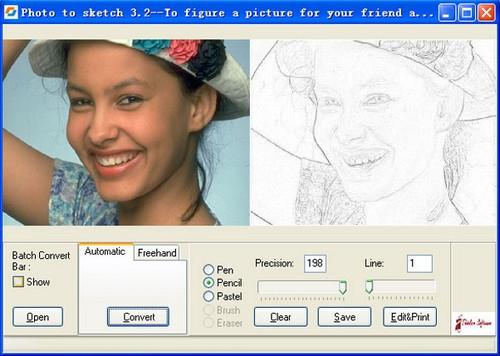โปรแกรมแต่งรูป Sketch Master