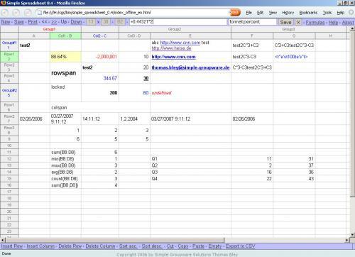 Simple Spreadsheet โปรแกรมสเปรดชีต