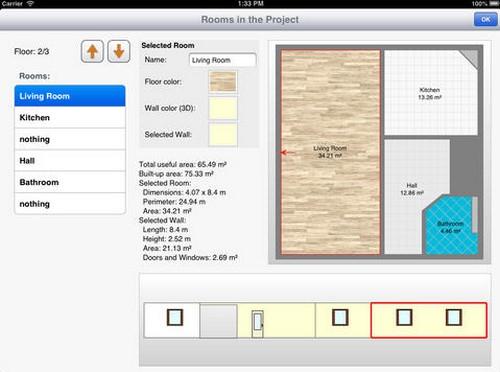 App ออกแบบห้อง Room Arranger