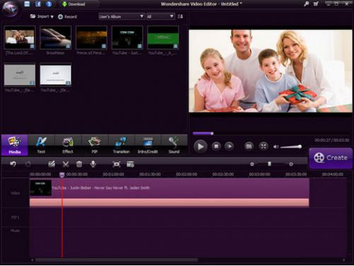 โปรแกรม Wondershare Video Editor
