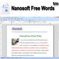 Nanosoft Free Words (โปรแกรมพิมพ์เอกสารฟรี)