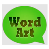 WordArt Chat Sticker
