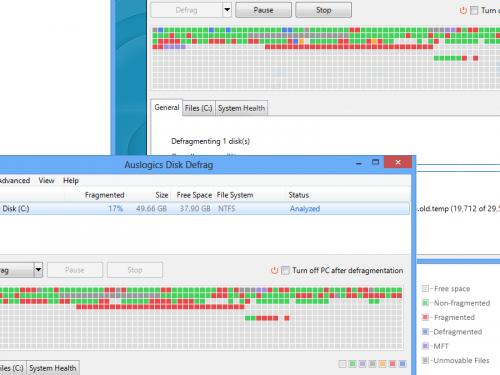 โหลดโปรแกรม Auslogics Disk Defrag