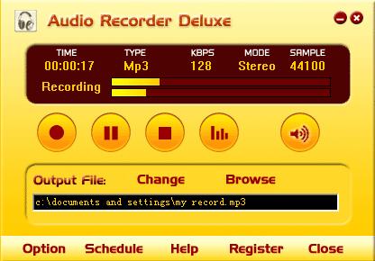 โปรแกรมอัดเสียง Audio Recorder deluxe