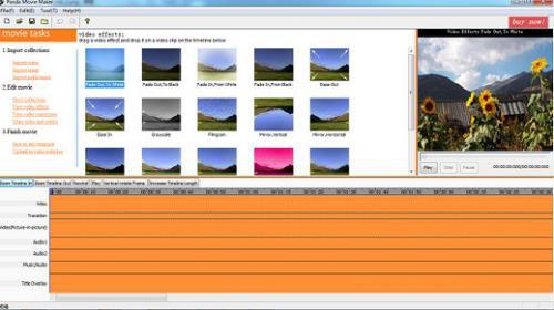 โปรแกรมสร้างวีดีโอ Panda Movie Maker