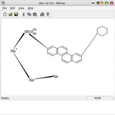 โปรแกรมวาดโครงสร้างเคมี MDraw