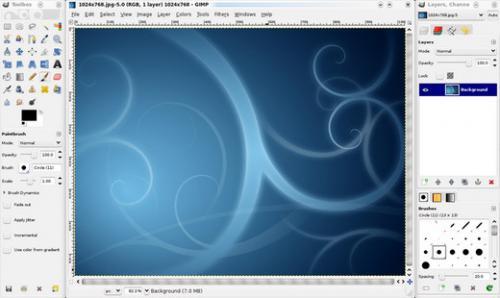 GIMP (โปรแกรม GIMP แต่งรูป Retouch ภาพบน PC ฟรี) :