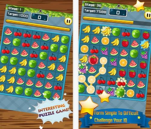 เกมส์จับคู่ผลไม้ Fruits Connect