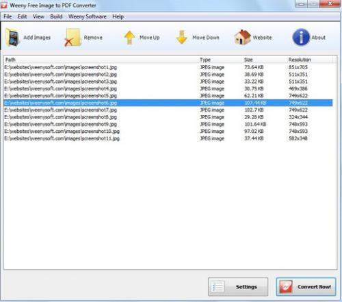 โหลดโปรแกรม Image to PDF Converter