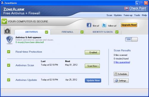 โปรแกรมไฟร์วอลล์ ZoneAlarm Free Firewall