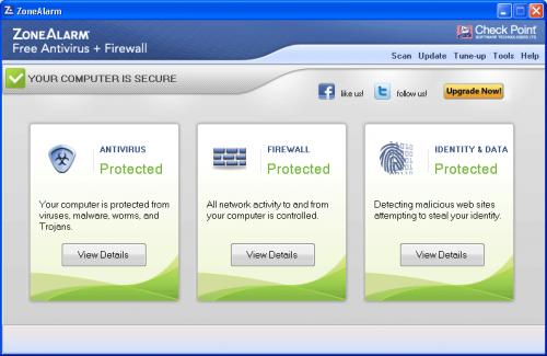 โปรแกรม ZoneAlarm Free Antivirus Firewall
