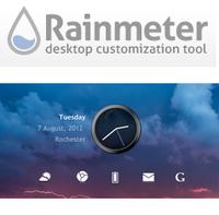 Rainmeter (โปรแกรม Rainmeter แต่งหน้าจอคอม) :