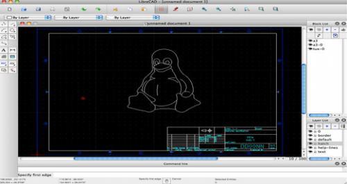 โปรแกรมออกแบบ 2 มิติ LibreCAD