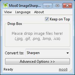 โปรแกรมทำภาพเบลอ Image Sharpener