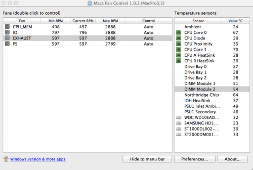 โหลดโปรแกรม Macs Fan Control