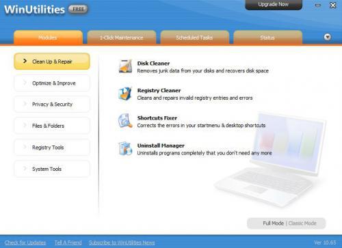 โปรแกรมปรับแต่งคอมพิวเตอร์ WinUtilities Free