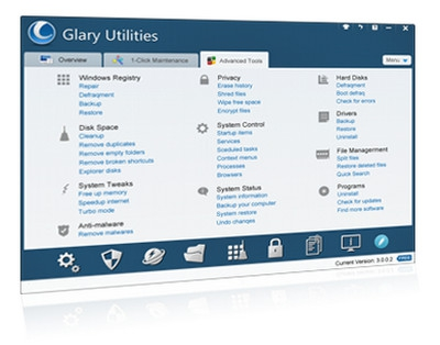โปรแกรมดูแลเครื่องคอมพิวเตอร์ Glary Utilities FREE