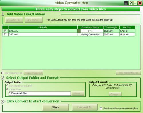 โปรแกรมแปลงไฟล์วีดีโอ Free Video Converter